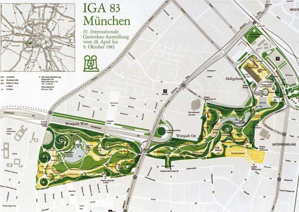 Deutsche Bundesgartenschau Gesellschaft Iga M 252 Nchen 1983
